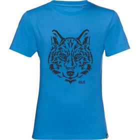 Jack Wolfskin Brand Maglietta Bambino, blu